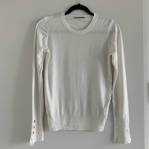 Zara cream long-sleeve knit with gold buttons